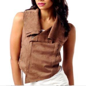🦋 Dash by Kardashian olive suede vest small